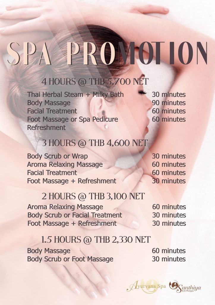 Spa Promotion Santhiya Resorts Amp Spas